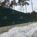 Забор из профнастила 2,2м на подготовленную фундаментную ленту