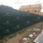 забор из профнастила с сеткой для животных 1