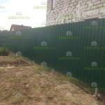 забор из профнастила с сеткой для животных