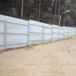 забор из профнастила в Звенигороде