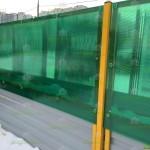 Забор из профнастила и поликарбоната для автостоянки