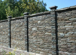 Забор из камня фото