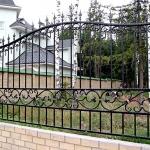 фото, кованый забор