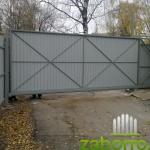 откатные ворота 4,5м вид из нутри