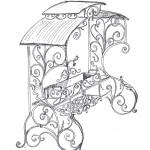 рисунок кованого мангала
