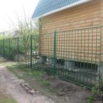фото сварной забор на даче
