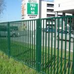 фото сварной забор у ТЦ