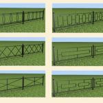 сварные газонные ограждения, простые