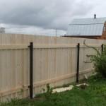 забор из деревянного штакетника 90х20, шаг 10мм