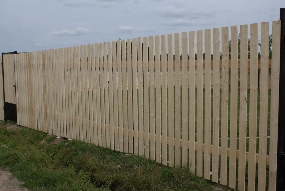 фото деревянных заборов с калиткой