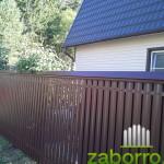 забор из металлического штакетника (2)