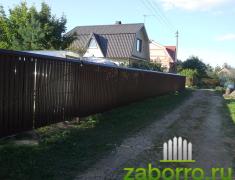 забор из металлического штакетника (3)