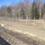 забор из сетки рабицы вдоль магистралей