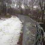 забор из сетки рабицы вокруг Коттеджного поселка