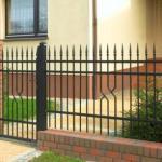 фото забор металлический сварной для коттеджа
