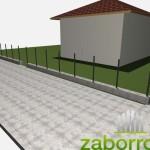 увеличиваем высоту забора до 2,2м от бетона