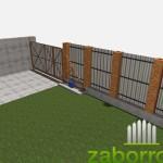 вид откатных ворот изнутри