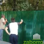 4 монтаж сотового поликарбоната к забору