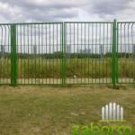 Сварной забор. Распашные ворота.