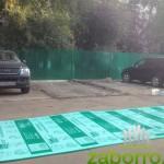 5 монтаж сотового пликарбоната к сварному забору