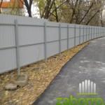 забор из профлиста С8 в Москве, для автостоянки