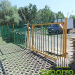 6 сдвижные ворота на металлический забор