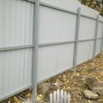 забор из профнастила С-8 с бетонированием столбов, Москва