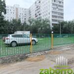 7 секционный забор и сдвижные ворота