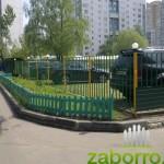 9 установка профлиста на сварном заборе