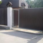 откатные ворота и калитка