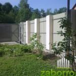 забор из профлиста и откатные ворота