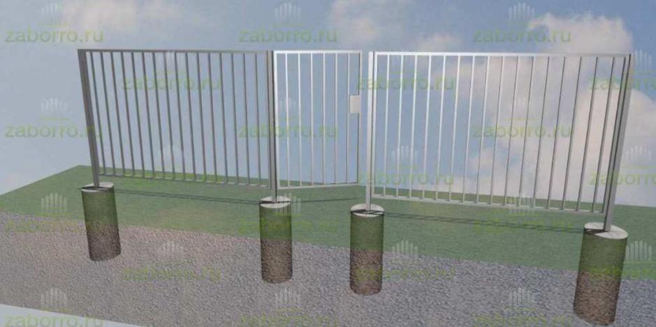 Забор 1,5м с калиткой 1,0м 2