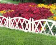 Декоративный забор для клумб