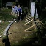 12. Колена от бетонасоса тянутся прямо к опалубке.