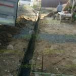 2. Начали копать траншею для фундаментной ленты 60х25см.