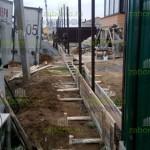3. Забетонирвоали столбы 60х60х2мм.