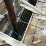 8. Сделали опалубку для фундамента под откатные ворота.
