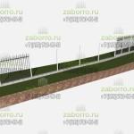 Забор, общий вид