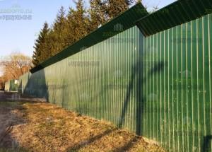 Шумозащитный забор 3,5м из профнастила С8
