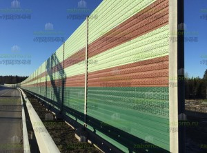 Разные цвета шумозащитных панелей 3,5м