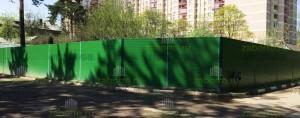 Ограждение от шума 2,5м из сэндвич панелей