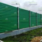 Шумозащитный забор 3м, из шумоотражающих экоанов