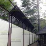 Монтаж козырька из сотового поликарбоната