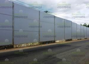 Шумозащитные экраны 3,5м, из сэндвич панелей 80мм