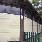 Готовый шумозащитный забор из СЭП и СПК