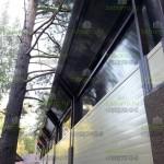 Шумозащитный забор из сэндвич панелей и сотового поликарбоната
