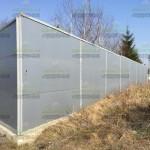Сложный шумозащитный забор из СЭП (сэндвич панелей - ШО) 100мм (3000х1000). Индекс изоляции воздушного шума до 30дБ
