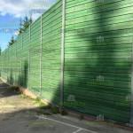 Шумопоглащающий забор 5м, из шумопоглащающих экранов 100мм