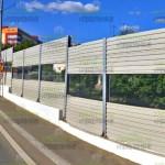 шумозащитный забор комбинированный с ПШО и СП