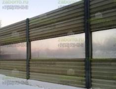 Шумозащитный экран на бетонном основании